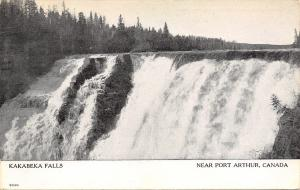 Port Arthur Canada~Kakabeka Falls~1912 B&W Postcard