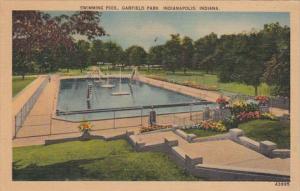 Indiana Indianapolis Swimming Pool Garfield Park 1945