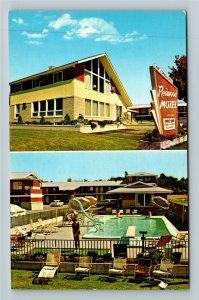 South Burlington VT-Vermont, Redwood Motel & Coffee Shop, Chrome Postcard