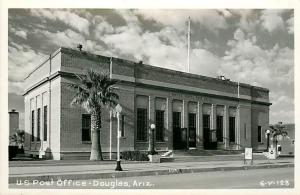 AZ, Douglas, Arizona, RPPC, Post Office