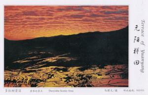 Duoyishu Scenic Area Aerial Terrace Of Yuanyang China Postcard