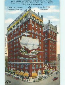 Linen OLD CARS & MAYFLOWER HOTEL Jacksonville Florida FL t0485