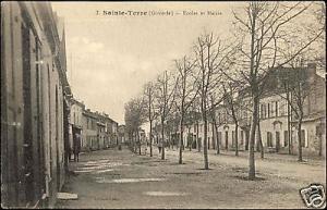 france, SAINTE TERRE, Ecoles et Mairie (1910s)