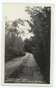 RPPC, Drive at Camp Van Vac, Burntside Lake, Ely, Minnesota, MN