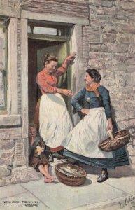 EDINBURGH, Scotland, UK, 1900-1910s; Newhaven Fishwives Gossips, TUCK # 9042