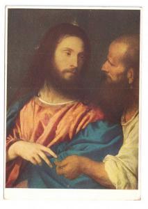 Der Zinsgroschen Jesus Christ Painting Tizian Tribute Money