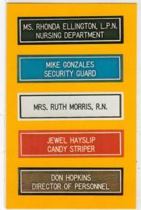 Nurse's Name Pins, Ralph Tigniere & Son, Charlotte NC