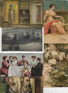 Romantic Couples - People Fantasy Postcard Lot of 18 With Litho and RPPC 01.07