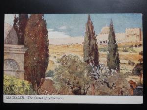 Religious: JERUSALEM The Garden of Gethsemane, Old Postcard Pub by Raphael Tuck