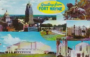 Indiana Fort Wayne Greetings With Multiple Views 1962