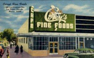Corey's Fine Foods, Las Vegas, Nevada, USA Restaurants, Diners Unused