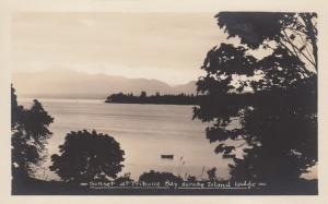 RP: Sunset at Tribune Bay, Hirnby Island Lodge , B.C. , Canada , 1910-20s