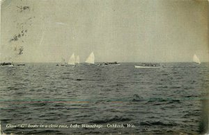 C-1910 Class C Boats Lake Winnebago Oshkosh Wisconsin Postcard 8322