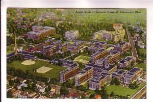 Aerial View General Hospital, Cincinnati, Ohio, Postal Views