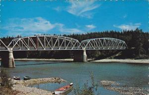 Parsnip River Bridge,  Williston Lake,  B.C.   Canada,  40-60s