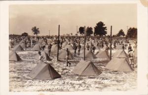 Military Field Inspection 121st Infantry Camp Jackson South Carolina Real Photo