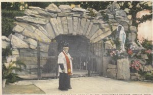 EUCLID, Ohio, 1910s; Our Lady of Lourdes Shrine at the Convent of the Good Sh...