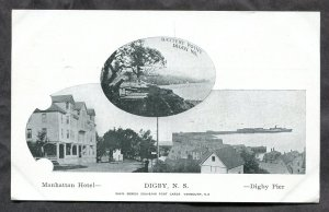 4877 - Canada DIGBY NS 1910s Hotel & Pier Views