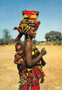Postcard, Africa In Pictures, Young Mammy, Black Woman, Mother, Child 50Z