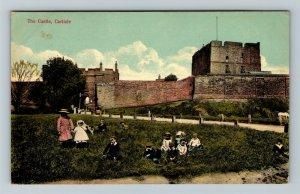 Carlisle, UK-United Kingdom, The Castle, Vintage c1912 Postcard