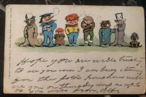 1907 Philadelphia USA Postcard Cover Black Americana Humor Had Ripping Time