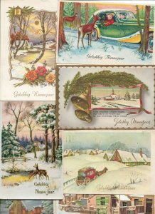 Happy New Year Theme Postcard lot of 28 01.12