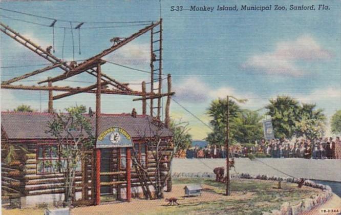 Florida Sanford Monkey Island At Municipal Zoo Curteioh