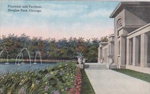 Illinois Chicago Fountain and Pavilion In Douglas Park