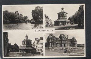 Co Durham Postcard - Views of Barnard Castle    RS18502