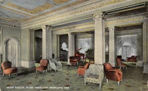 Portland Oregon~Hotel Portland~Main Victorian Parlor~Baby Grand Piano~1914