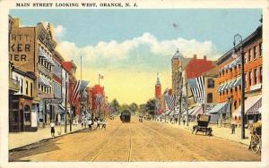 Orange New Jersey Main Street Scene Historic Bldgs Antique Postcard K39406