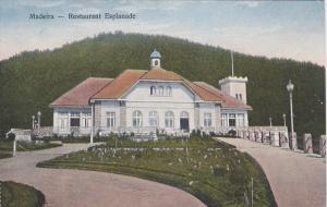 MADEIRA, Portugal, 1900-1910's; Restaurant Esplanade