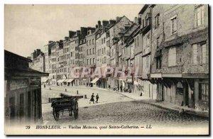 Postcard Old Honfleur Vieilles Maisons du Quai Quarantine
