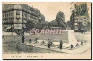 Old Postcard Paris The Lion of Belfort