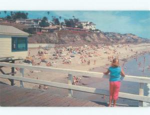 Unused Pre-1980 BEACH SCENE San Clemente California CA d6420