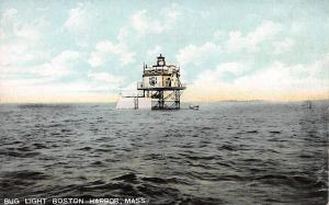 Bug Light Boston Harbor, Massachusetts, Early Postcard, Unused