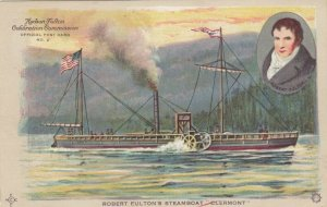HUDSON-FULTON Celebration , New York ,1909; Robert Fulton's Steamboat Clermont