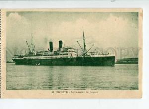 271284 Tunisia TUNIS BIZERTE FRENCH Mail ship Vintage postcard