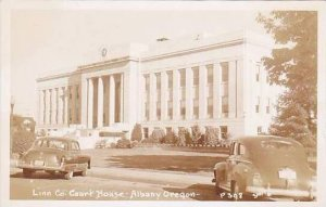 Oregon Albany Linn County Court House Real Photo RPPC