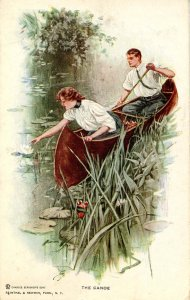 The Canoe     Artist: Harrison Fisher    Series 103 (Chas. H. Hauff, London)