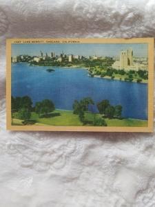 Antique Postcard, Lake Merritt, Oakland, California