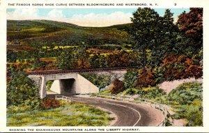 New York Horsehsoe Curve Between Bloomingburg and Wurtsboro 1931