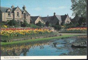 Scotland Postcard - The Sunken Garden, Forres   C1135