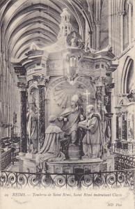 France Reims Tombeau de Saint Remi Saint Remi instruisant Clovis