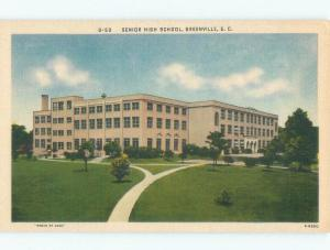 Linen SENIOR HIGH SCHOOL Greenville South Carolina SC E2194-15