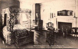 New York City Bronx Van Cortland House The Washington Bed Room Albertype