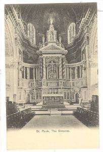 Interior,St.Pauls,The Reredos,London England,00-10s