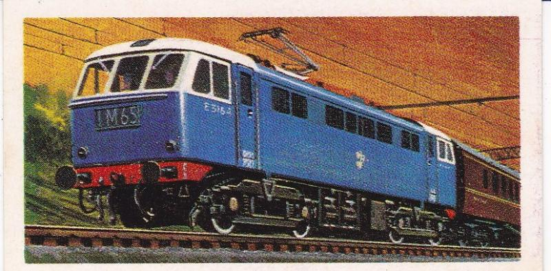 Trade Cards Brooke Bond Tea Transport Through the Ages No 29 Electric Locomotive