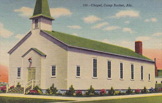 Alabama The Chapel Camp Rucker Curteich