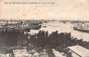 Egypt Port-Said prise a l'interieur du Canal de Suez, boats ships harbour